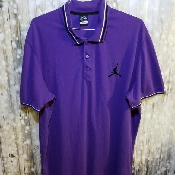 8094e3710 Nike Jordan purple short sleeve polo shirt 2XL. M_5a87614b9a94557bbbdb81b1